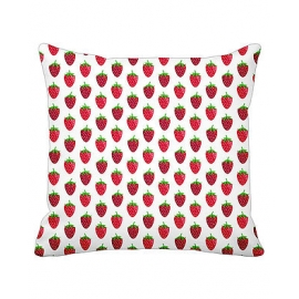 "Kissenbezug, ""CUSHION COVER STRAWBERRY WHITE"", Krasilnikoff"