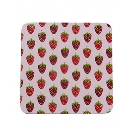 "Tassen Untersetzer, ""COASTER STRAWBERRIES PINK"", Krasilnikoff"
