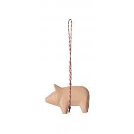 Holzschweinchen Verzierung, rosa,  Maileg