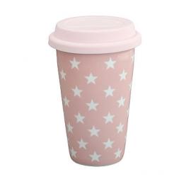 "Becher-to-go ""Sterne"", hellrosa/travel mug, pink w. stars, Krasilnikoff"