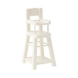 Hochstuhl, weiß/High chair, white, Maileg