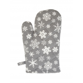 """Ofenhandschuhe, """"SNOWFLAKES ALL OVER CHARCOAL"""", Krasilnikoff"""