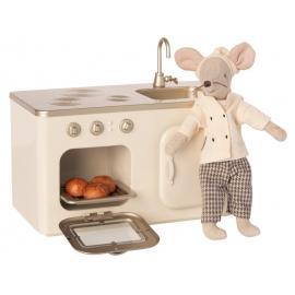 Miniaturküche aus Metall/metal miniature kitchen, Maileg