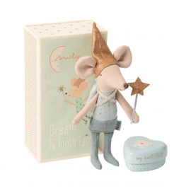Maus Zahnfee, großer Bruder/Tooth fairy mouse in matchbox,  Maileg