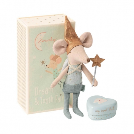 "Maus Zahnfee, ""TOOTH FAIRY MOUSE IN MATCHBOX, GROßER BRUDER"",  Maileg"