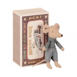 Maus in der Schachtel, kleiner Bruder/little brother mouse in matchbox, Maileg
