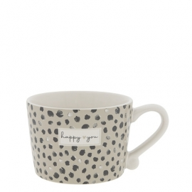 """Tasse """"Happy you"""", klein/cup, confetti, Bastion Collections"""